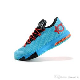 kevin durant shoes kd cheap NZ - New Cheap Mens what the KD 6 vi low tops basketball shoes Aunt Pearl Pink BHM MVP Blue Gold Floral Kevin Durant KD6 sneakers boots kds