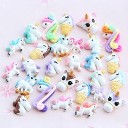 unicorn doll toy UK - New 1 3 5 10pcs Miniature Mini Food Fruits and Vegetables Kitchen Toys Resin Fake Food Unicorn Toy for Doll Children Kids Toys