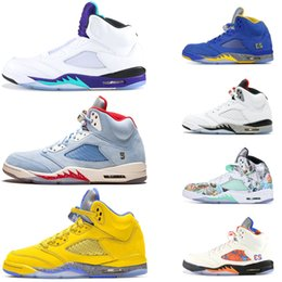 $enCountryForm.capitalKeyWord Australia - Designer 5 5s Men Basketball Shoes yellow white cement Olympic Gold Space Jam Fab 5 SP Michigan Mens Trainers Sports Fashion Athletic shoes