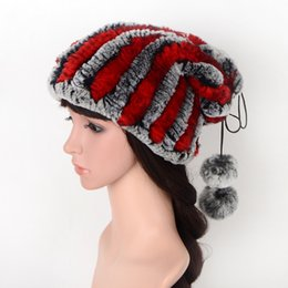 $enCountryForm.capitalKeyWord Australia - 2018 Colour Rex Rabbit's Hair Hats Manual Weave Leather And Fur Bright Silk Bobble Hat High Elastic Keep Warm New Gameplay