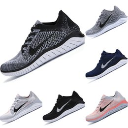 Boys Barefoot shoes online shopping - 2019 Free RN Stretch Knit Breathable Running Shoes Originals Free RN Barefoot Woman Buffer Rubber Jogger Shoes