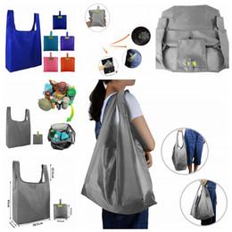 $enCountryForm.capitalKeyWord Australia - 6Styles Foldable Shopping Bags Reusable Eco Storage Grocery bags sundries duffle solid shoulder bags Shopping Tote Handbag FFA2614