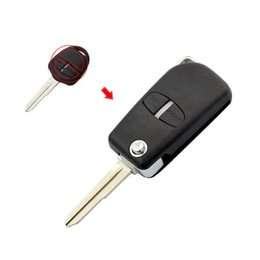 $enCountryForm.capitalKeyWord Australia - Car Key Shell for Outlander Mirage Lancer Evo Colt Cover Fob Flip Folding Uncut Right Blade 2 Button