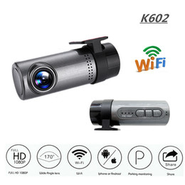 gps out NZ - K602 1080P Car Camera WDR No Screen WIFI Driving Recorder Night Vision Car DVR Dash Cam Android IOS Control Loop-Cycle Recording