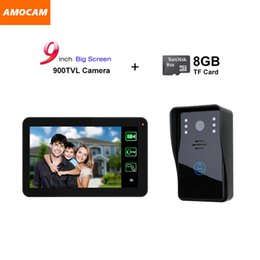 System Cards Australia - 9 inch Touch Monitor Video Record door phone Video Intercom Doorbell System Kit with 8GB Card Recording doobell