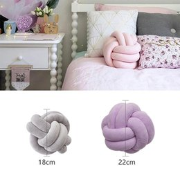 Doll chairs online shopping - Soft cm Knotted Ball Cushion Throw Pillow Waist Back Cushion Pillow Seat Chair Dolls Toys For Kids Adults