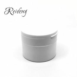 $enCountryForm.capitalKeyWord Australia - White round flip-cover, white-tooth powder box, custom-made skin-care cream box, factory-direct, wholesale, custom-made empty bag