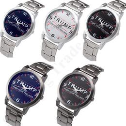 venda por atacado Trump 2020 Letras Mens Quartzo Relógios 37mm Strap de Aço Inoxidável Assista Auto-Movimento SL39 Círculo Mecânico Retro Relógios Relógios Novo B82702