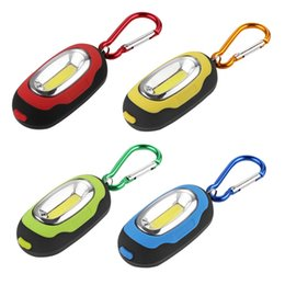 $enCountryForm.capitalKeyWord Australia - Portable Mini 100lm Keychain Pocket Torch 3Modes COB LED Light Flashlight waterproof IPX4 Lamp Multicolor Mini Torch With Button Battery
