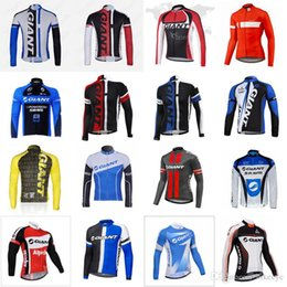 giant bicycle team jersey 2019 - GIANT team Cycling long Sleeves jersey 2018 Wholesale High quality Bicycle mountain bike Clothes sportwear new C2908 dis