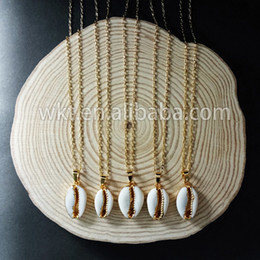 $enCountryForm.capitalKeyWord Australia - Wt-n493 Fashion Cowrie Shell Necklace Jewelry Natural Sea Shell Tiny Pendant In Gold,silver Trim Women Fashion Summer Jewelry J190711