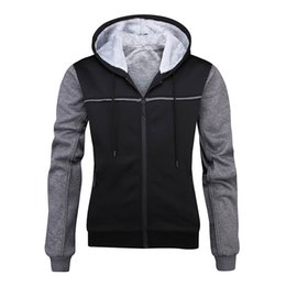 full zip jacket polyester Australia - Mens Full Zip Thick Warm Fleece Lined Hoodie with Pockets Sweatshirt Windproof Hooded Pullover Casual Jumper Jacket for Fall Winter Outdoor