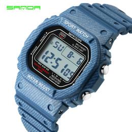 $enCountryForm.capitalKeyWord Australia - SANDA Couple Watches Men Women Unisex Watch Casual Sport LED Digital Wristwatch Lover's Waterproof Clock Couple Gift Trending