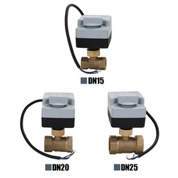 $enCountryForm.capitalKeyWord Australia - AC220V 2-Ways 3-Wires Brass Motorized Ball Valve Electric Actuato With Manual Switch Energy-saving Actuator Motor