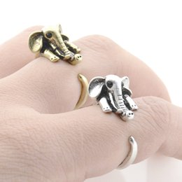 $enCountryForm.capitalKeyWord Australia - Vintage Silver Retro Funny Cute Elephant Ring For Women Anel Midi Finger Animal Couple Rings Antique Jewelry Male Unique Cool Gift Ideas