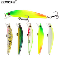 spinner pesca NZ - 1pcs Hard Minnow Fishing lures Artificial Make 8.5cm 7.5g Plastic Models Fishing Tackle 5 Colors Available Wobblers bait Pesca T191016