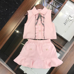 Cute Products Australia - Children's wear girl dress Summer clothing 2019 new products Wholesale prices cotton polyester fiber suit Classic lotus leaf skirt