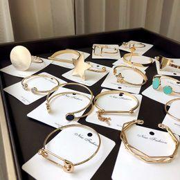$enCountryForm.capitalKeyWord NZ - Fashion wide variety of styles Bracelet Silver Gold Plated Popular Multi - variety bracelet mixed send Bracelets For Women Lady Jewelry