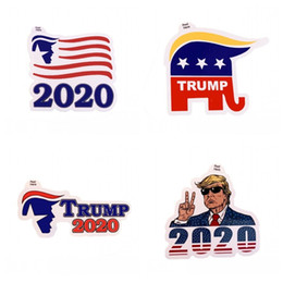 eco friendly notebooks NZ - 2020 USA President Election Pasters US Donald Trump Notebook Sticker Campaign Supporters Decal Eco Friendly 0 6jw E1