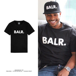 Balr T Shirts Australia - Mens Designer T Shirts Balr Brand Letters Print Solid Color Shirts Luxury Street Wear T shirts Asian Size S-3XL