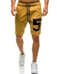 Mens Black Khaki Shorts Australia - MarKyi fashion letter print mens compression shorts good quality summer men short pants casual