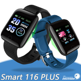Smart watch ioS iphone online shopping - 116 Plus Smart watch Bracelets Fitness Tracker Heart Rate Step Counter Activity Monitor Band Wristband PK PLUS M3 for iphone Android