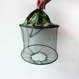 $enCountryForm.capitalKeyWord Australia - Outdoor Camo Cap Sun Protection Fishing Hats Practical Insect Bee Mosquito Resistance Bug Net Mesh Head Face Hat TTA1089