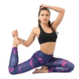 Yoga Pants Xl Australia - Gym Clothing 2019 Yoga Pants With Pockets Women Sexy Women'S Casual Floral Print High Waist Yoga Running Sports Pants Trouser