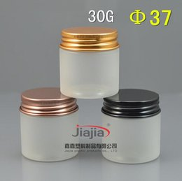 $enCountryForm.capitalKeyWord Australia - 30 grams clear frosted PET Jar,30ml Plastic Jar with gold black brown Aluminum cap Cosmetic Personal Care Sample Container