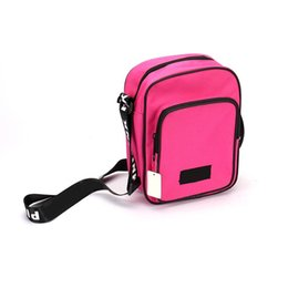 soft lunch bags plain Australia - Pink Letter Shoulder Bag Belt Messenger Lunch Bags Backpack Teenager Big Capacity Square Tote Sports Travel Shopping Bag 6 colors