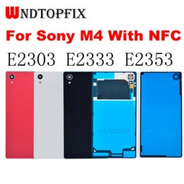 $enCountryForm.capitalKeyWord Australia - For SONY Xperia M4 Aqua Back Battery Cover Rear Door Housing Case with NFC Replacement For SONY M4 E2303 E2333 Battery