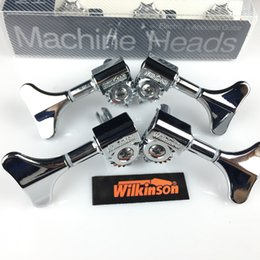 $enCountryForm.capitalKeyWord Australia - NEW wilkinson Electric Bass Guitar Machine Heads Tuners Guitar Tuning Pegs Open Gear WJB-750 Chrome Silver ( without packaging )
