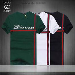 Venta al por mayor de Nuevo patrón de verano informal exquisito hombre camisetas de manga corta delgado algodón puro impresión de moda masculina camisetas para hombres camisetas marcas