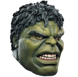 $enCountryForm.capitalKeyWord Australia - Hot Movie Face Avengers Hulk Mask Adult Latex Mask Cosplay Costumes Masks Full Face Helmet Halloween