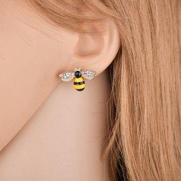 $enCountryForm.capitalKeyWord NZ - Cute Enamel Yellow Flower Stup Earrings For Women Girl New Fashion Jewelry Accessories Brincos Drop Shipping E2572