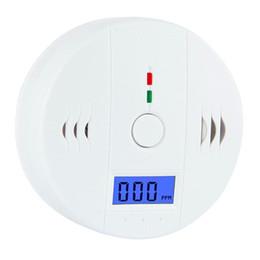 200pcs Co Carbon Monoxide Tester Alarm Warning Sensor Detector Gas Fire Poisoning Detectors Lcd Display Security Surveillance Carbon Monoxide Detectors Fire Protection
