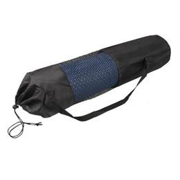 Venta al por mayor de 10 mm portátil Yoga Mat Dibujo soporte para bolsa de malla Yoga Center Deportes Mochila Negro de envío libre Color