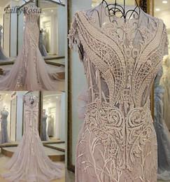 Sexy Mermaid Evening Dresses 2019 Lebanon Designer Luxury Beading See  Through Arabic Evening Gowns vestido de fiesta largos de noche b02cb8e8f100