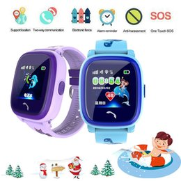 $enCountryForm.capitalKeyWord Australia - Anti Lost DF25 OLED Child GPS Tracker SOS Smart Monitoring Positioning Device Phone Kids GPS Baby Watch Compatible IOS Android