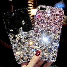 $enCountryForm.capitalKeyWord NZ - Sunjolly Rhinestone Case Diamond Bling Phone Cover Coque Fundas For Samsung Galaxy S9 s8 Plus S7 s6 Edge Plus S5 S4 Note 9 8 5 4 T190710