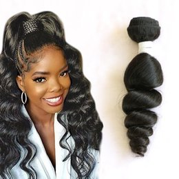 human hair brazilian loose curly Australia - Brazilian Human Hair One Bundles Loose Wave One Lot Hair Products 8-28inch Loose Wave Curly Wholesale Sample