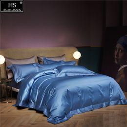 Dreams Bedding Australia - Luxury 650 Thread Count Egyptian Cotton 4 Pieces Bedding Sets Sateen Weave Embroidery Prismatic Lattice Dream Blue Gift box