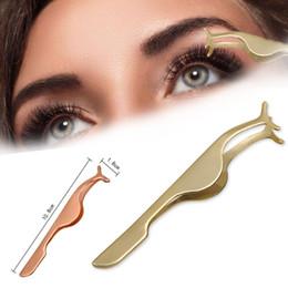 Clip False Eyelashes Australia - kanbuder Eyelash Curler Stainless False Eyelashes Extension Applicator Remover Clip Tweezer Nipper Beauty Tool dropship ap22