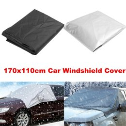 Hooks cars online shopping - 170x110cm Car Windshield Windscreen Cover Sunshade Sun Visor Snow Ice Frost Protector Waterproof Dustproof with Hook
