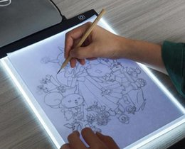 a4 pads UK - LED Graphic Tablet Writing Painting Light Box Tracing Board Copy Pads Digital Drawing Tablet Artcraft A4 Copy Table LED Board Dimmable