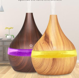 Wholesale 300ml Wood Grain Air Humidifier Ultrasonic Aroma Diffuser Huile Essentiel USB Humidificador Cool Mist Maker for Home 040