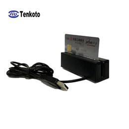 Usb track online shopping - Universal Two Way Swipe VIP Card High And Low Co Three Full Track MSR Stripe USB Magnetic Card Reader