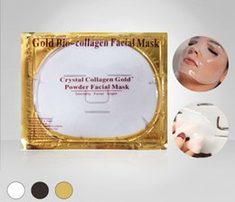 $enCountryForm.capitalKeyWord Australia - New Hot Gold Bio Collagen Facial Mask Face Mask Crystal Gold Powder Collagen Facial Mask Sheets Moisturizing Beauty Skin Care Products