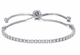 Wholesale Fashion Women Rhinestone Cubic Zirconia Bracelet Fashion Adjustable Bangles Jewelry Nice Bracelet Gift Wedding Party Jewelry