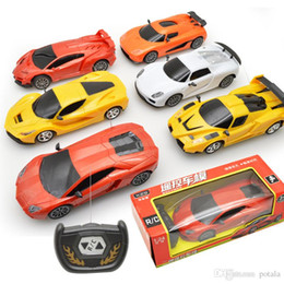 Wholesale Boxes Packaging Australia - 1:24 Remote Control 2CH RC Car Electric Mini with LED Lights Toys Funny kids Toys Party Radio Controlled Cars Licensed Retail Box Packages